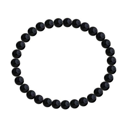Браслет из не металл с чёрными агатами (8510500149) - фото