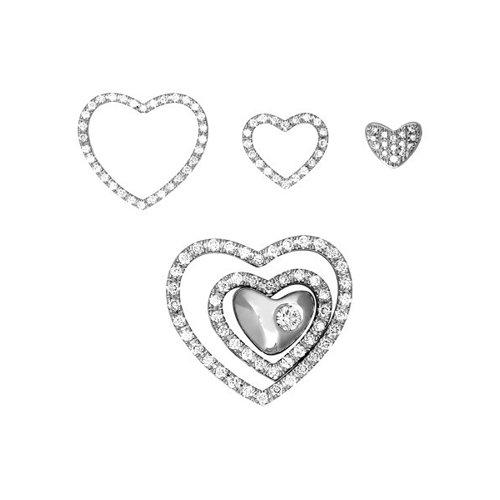 Наборная подвеска из белого золота с бриллиантами в тематике «Love»