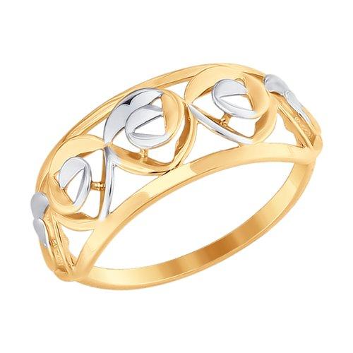 Кольцо из золота (017577) - фото