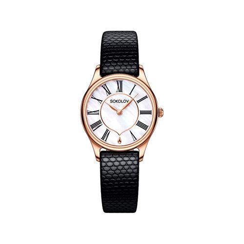 Женские золотые часы (238.01.00.000.01.01.2) - фото №2