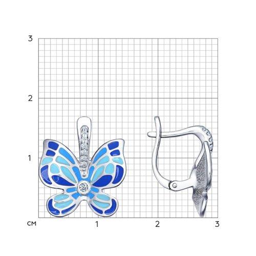 Яркие серьги с бабочками