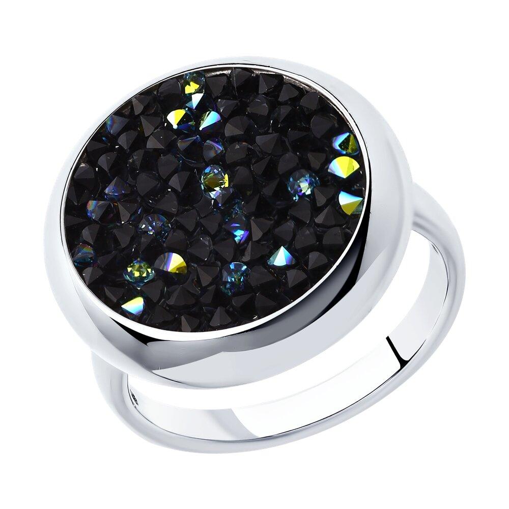 Серебряное кольцо с кристаллами Swarovski SOKOLOV фото
