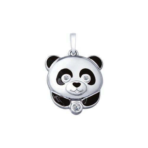 Серебряная подвеска «Панда» SOKOLOV