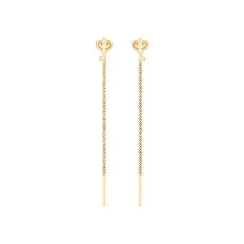 Серьги-цепочки из золота (026842) - фото