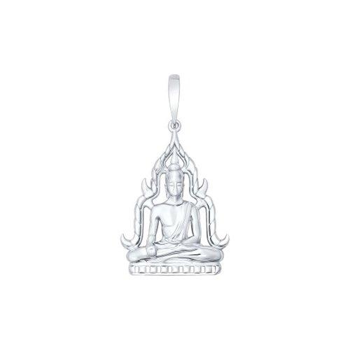 Серебряная подвеска «Будда»