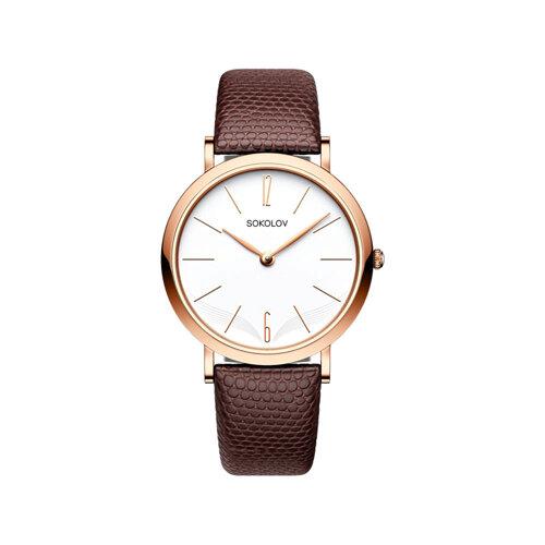 Женские золотые часы (204.01.00.000.05.03.2) - фото №2