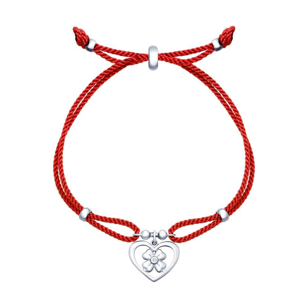 Браслет с серебром «Сердце» SOKOLOV повязка атрауман с серебром 10 х 10 см n 10