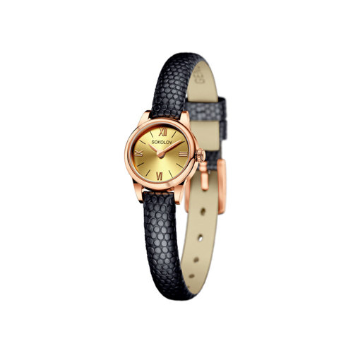 Женские золотые часы (211.01.00.000.02.01.3) - фото