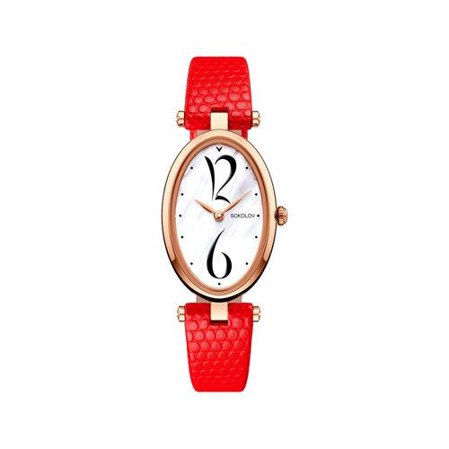 Женские золотые часы (235.01.00.000.05.03.2) - фото №2