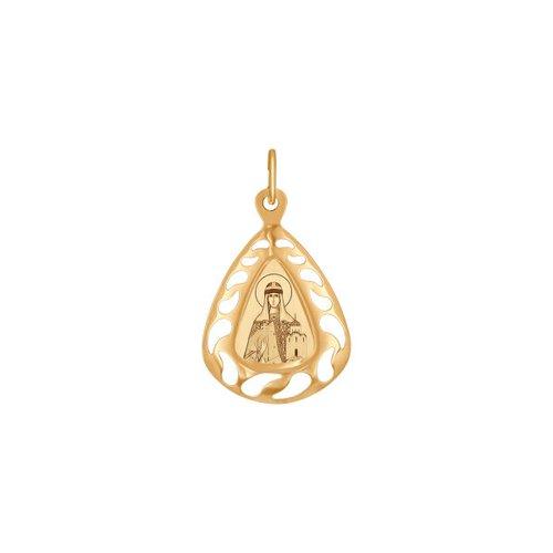 Золотая иконка «Святая мученица Ольга» SOKOLOV святая мученица анастасия романова