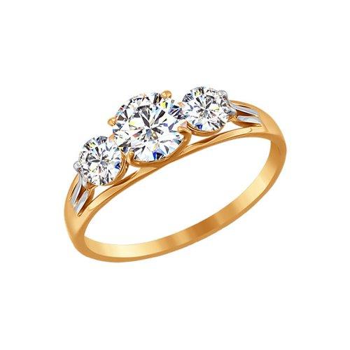 Помолвочное кольцо  со Swarovski Zirconia