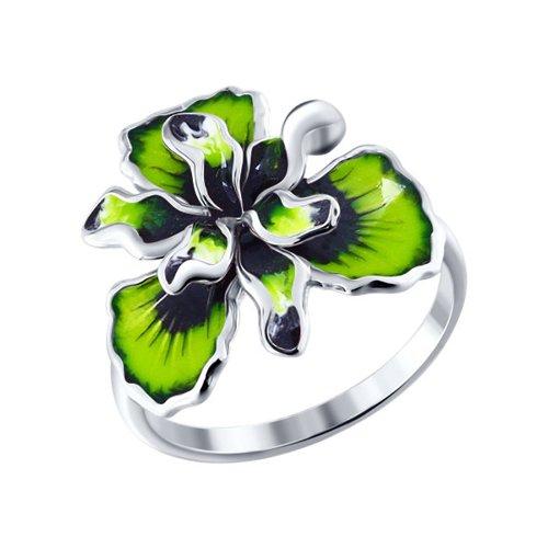 Фото - Серебряное кольцо с цветной эмалью SOKOLOV серебряное кольцо с сердечками sokolov