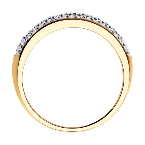 Кольцо из золота с бриллиантами 1011798 SOKOLOV фото 2