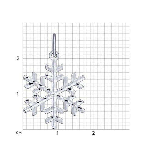Серебряная подвеска «Снежинка» (94031708) - фото №2