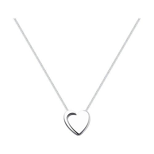 Колье «Сердце» из серебра (94070051) - фото