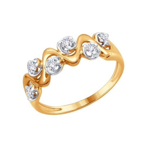 Кольцо из золота с бриллиантами (1011562) - фото