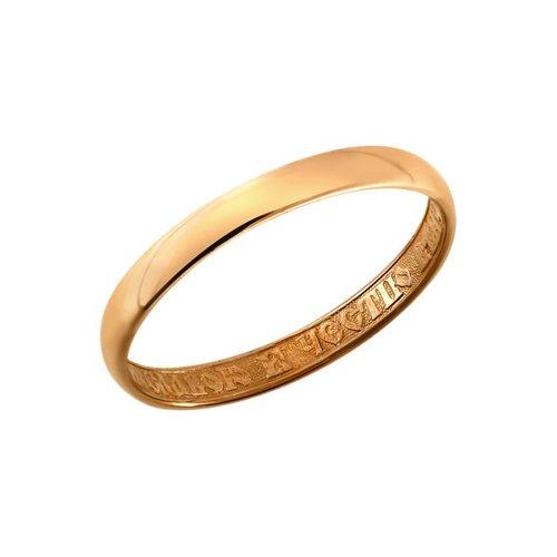 Золотое обручальное кольцо, православное SOKOLOV золотое кольцо ювелирное изделие 01k615242