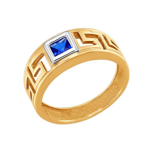 Фото - Кольцо SOKOLOV из комбинированного золота с синим фианитом кольцо sokolov из комбинированного золота с синим фианитом