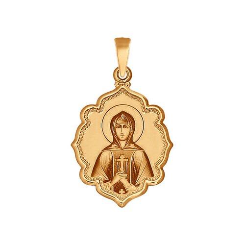 Иконка из золота «Святая праведница Анна» (102997) - фото