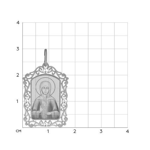 Серебряная нательная иконка «Святая блаженная Матрона Московская»
