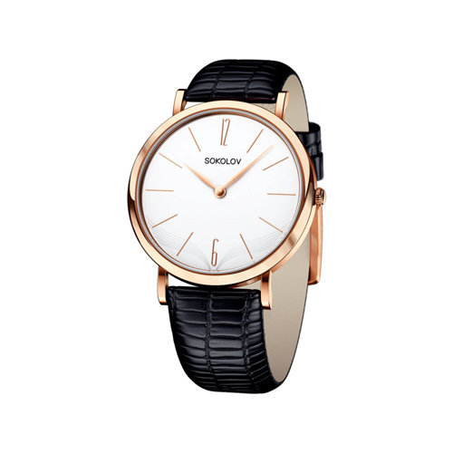 Женские золотые часы (204.01.00.000.05.01.2) - фото
