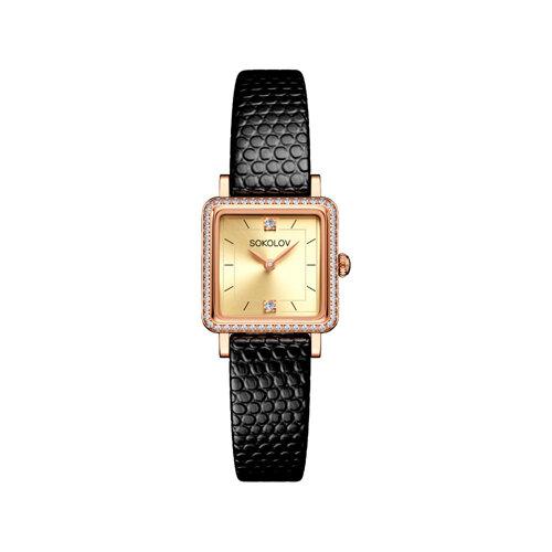 Женские золотые часы (232.01.00.001.06.01.2) - фото №2