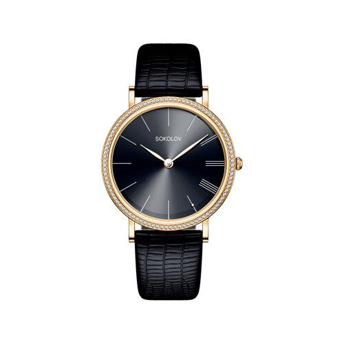 Женские золотые часы (210.02.00.001.04.01.2) - фото №2