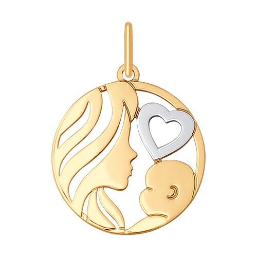 Подвеска из золота «Мать и дитя» (035510) - фото