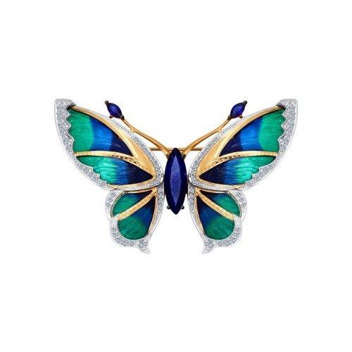 Брошь «Бабочка» из золота с эмалью