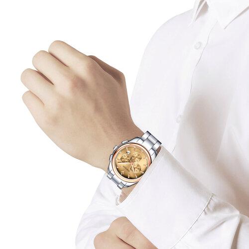 Мужские часы из золота и стали (139.01.71.000.02.01.3) - фото №3