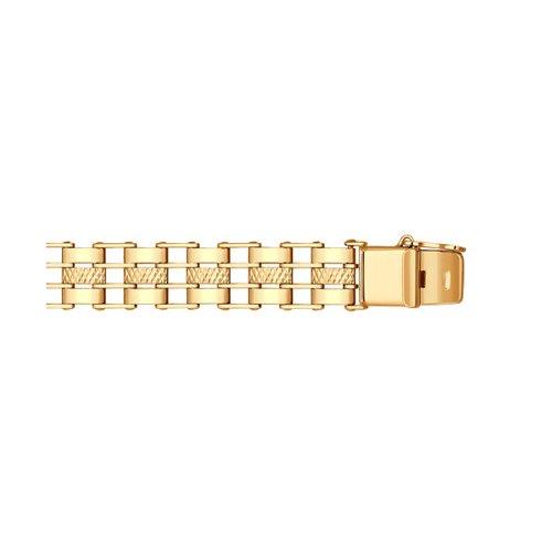 Строгий мужской браслет с алмазной гранью SOKOLOV