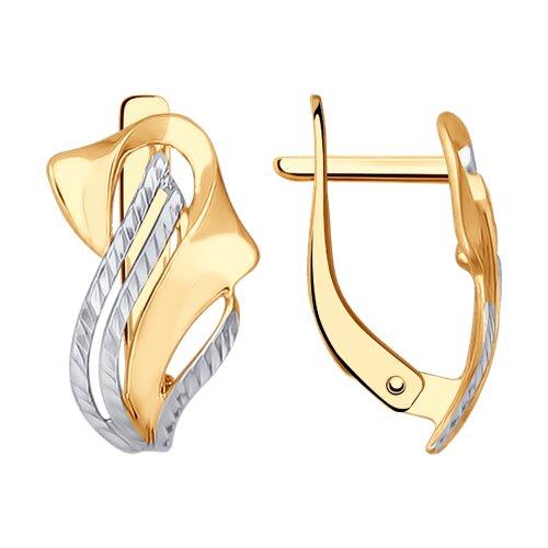 Серьги из золота с алмазной гранью (027288) - фото