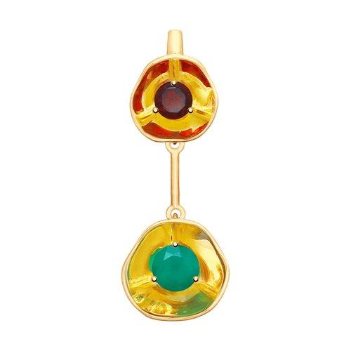 Подвеска из золота с полудрагоценными вставками