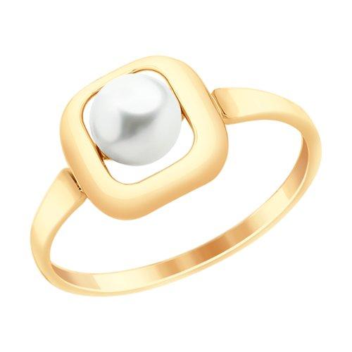 Кольцо из золота с жемчугом (791057) - фото