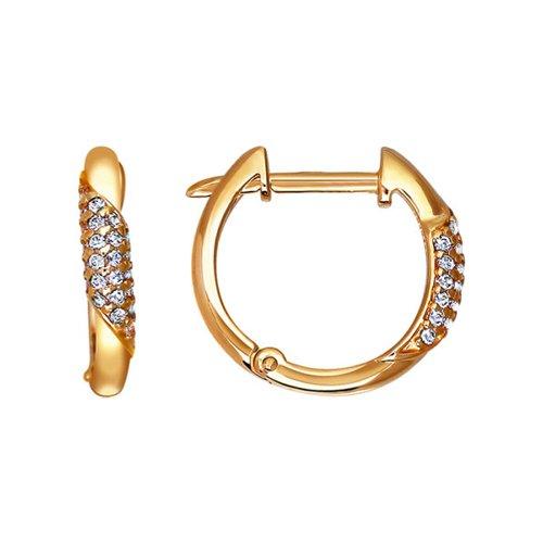 Золотые серьги-креолы SOKOLOV