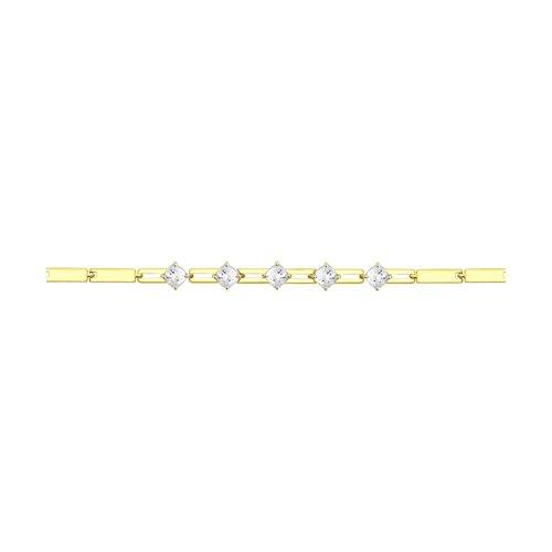 Браслет из желтого золота со Swarovski Zirconia (81050015-2) - фото