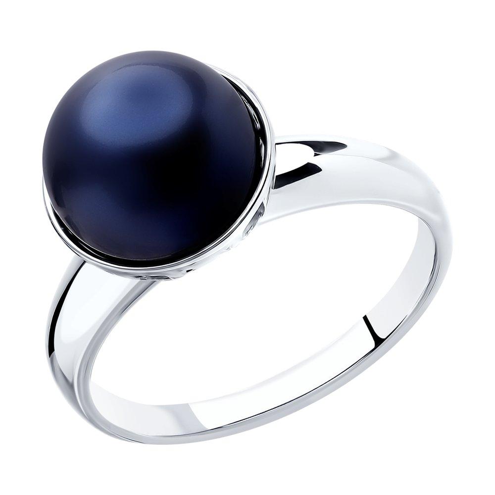 Кольцо SOKOLOV из серебра с жемчугом Swarovski фото