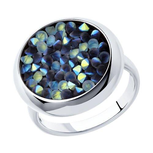 Кольцо из серебра с кристаллами Swarovski (94012430) - фото