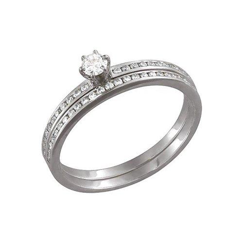 Помолвочное кольцо SOKOLOV из белого золота с бриллиантами мастер бриллиант кольцо с 32 бриллиантами из белого золота 1 104 867 размер 15 5