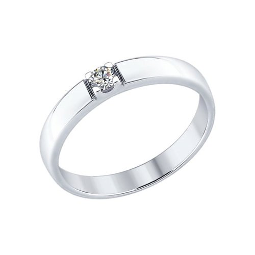 Кольцо из серебра со Swarovski Zirconia (89010057) - фото