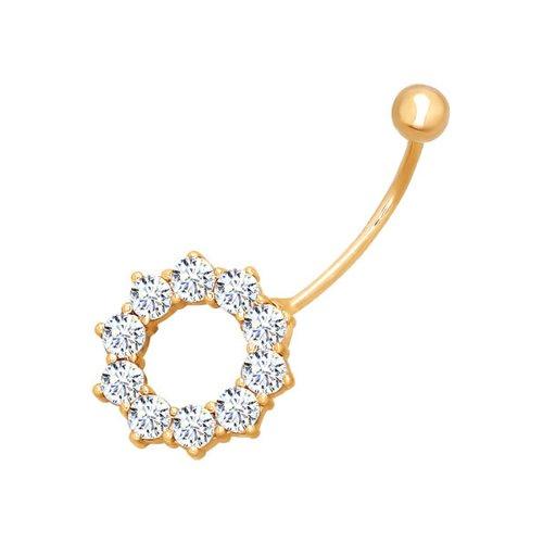 Золотой пирсинг для пупка классический пирсинг для носа с бриллиантом