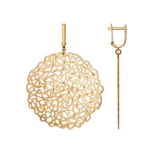Крупные серьги SOKOLOV из золота с алмазной гранью