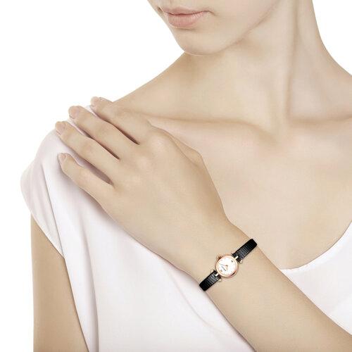 Женские золотые часы (215.01.00.000.01.01.2) - фото №3