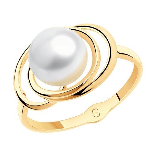 Кольцо из золота с жемчугом (791126) - фото