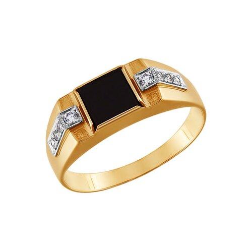 Кольцо с ониксом из золота