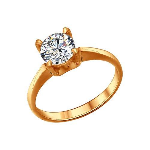 Помолвочное кольцо SOKOLOV из золочёного серебра с фианитом золотое помолвочное кольцо с фианитом sokolov