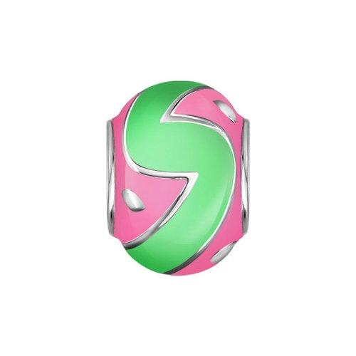 Подвеска-шарм с розовой и зелёной эмалью SOKOLOV