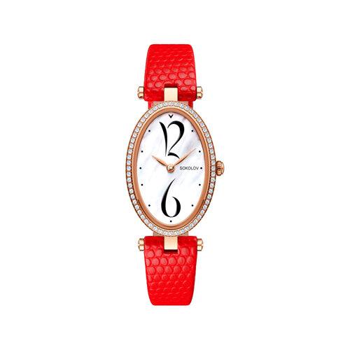 Женские золотые часы (236.01.00.100.05.03.2) - фото №2