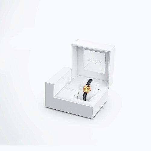 Женские золотые часы (211.01.00.000.02.01.3) - фото №4