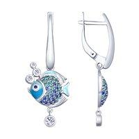 Серьги из серебра «Рыбки»